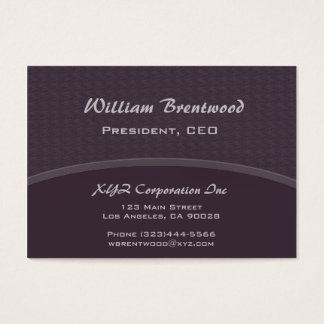 Dark plum purple curve business card
