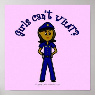 Dark Police Girl Poster