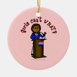 Dark Politician Girl Christmas Tree Ornaments
