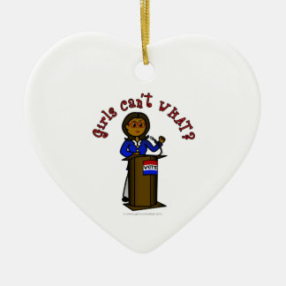 Dark Politician Girl Ceramic Heart Decoration
