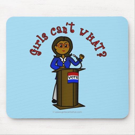 Dark Politician Girl Mouse Pad