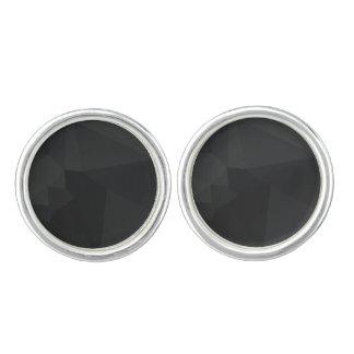 Dark Polygonal Pattern Cufflinks