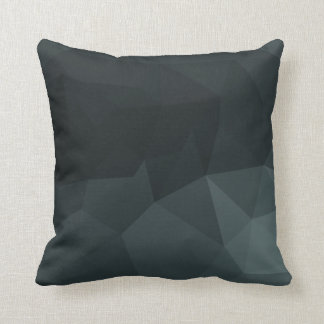 Dark Polygonal Pattern Cushion