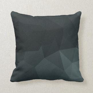 Dark Polygonal Pattern Cushions