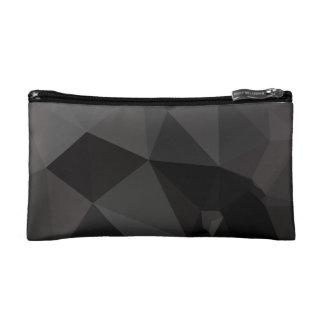Dark Polygonal Pattern Makeup Bag