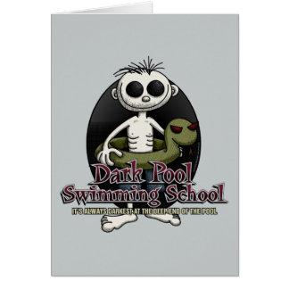 Dark Pool Swimming School Greeting Card