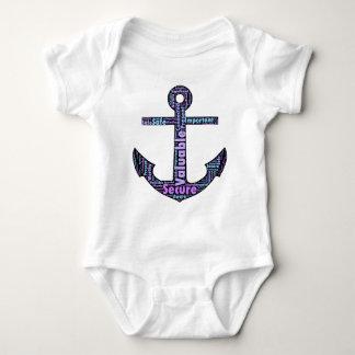 Dark Positive Word Anchor Baby Bodysuit