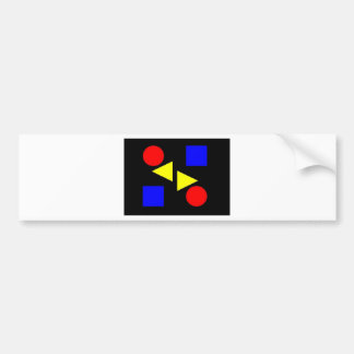 Dark Primary Bumper Sticker