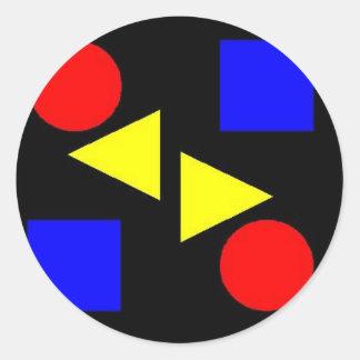 Dark Primary Round Sticker