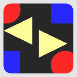 Dark Primary Square Sticker