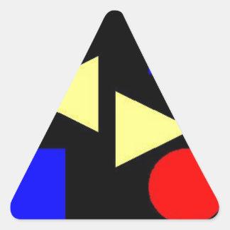 Dark Primary Triangle Sticker