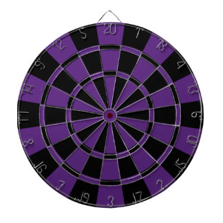 Dark Purple And Black Dartboard