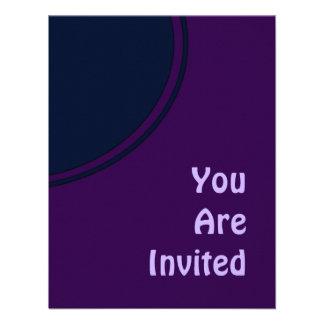 Dark Purple and Blue Mod Party Invite