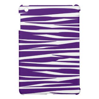 Dark Purple And White Zebra Print iPad Mini Case