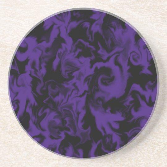 Dark Purple & Black mixed colour coaster