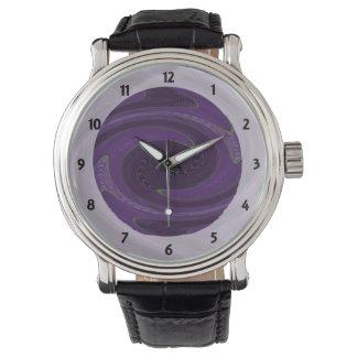 dark purple black twirl abstract watch
