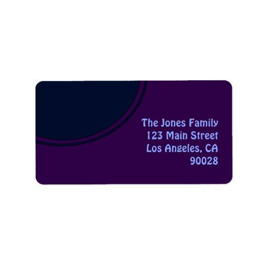 Dark purple blue mod circle label