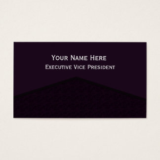 Dark Purple Center Point Business Card