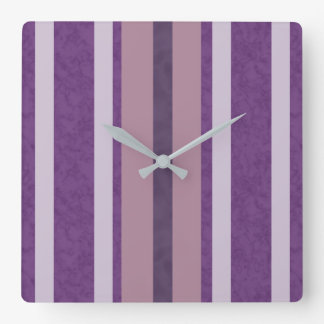 Dark Purple Clouds with Rose and Lavender Clock