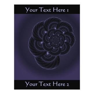 Dark Purple Flower Graphic Spiral Custom Flyer