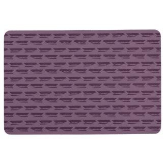 Dark Purple Geometric Pattern Floor Mat