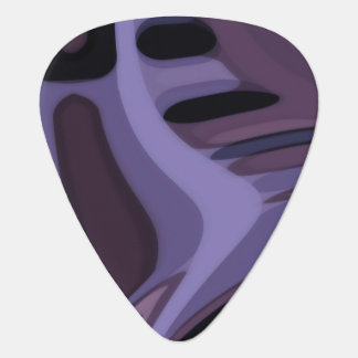 Dark Purple, Indigo Tropics Design Guitar Pick