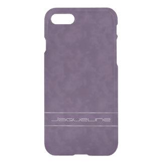 Dark Purple Lavender Stripes iPhone 7 Case