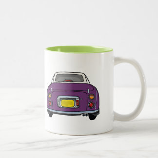 Dark Purple Nissan Figaro custom car Mug