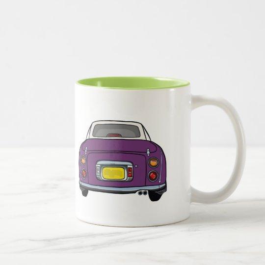 Dark Purple Nissan Figaro custom car Mug
