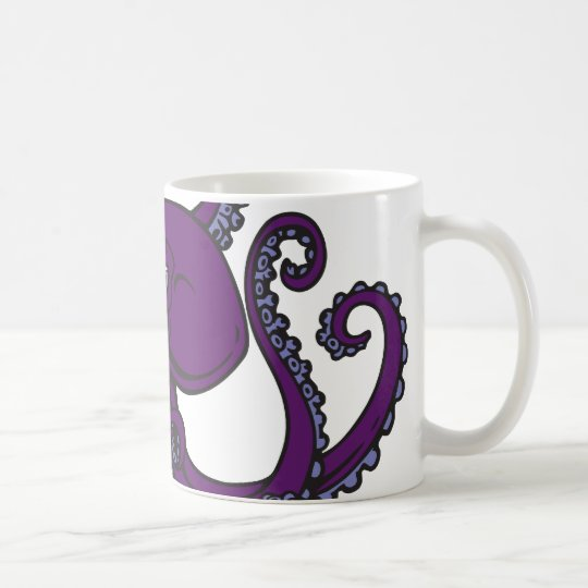 Dark Purple Octopus Coffee Mug
