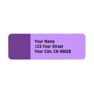 dark purple return address label
