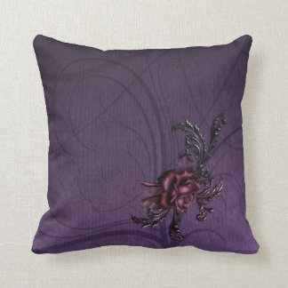 Dark Purple Rose Cushion