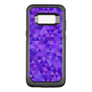 Dark purple triangle pattern OtterBox commuter samsung galaxy s8 case