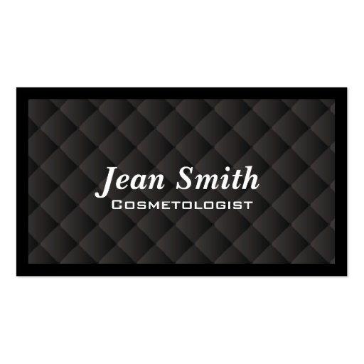 Dark Quilt Cosmetologist Business Card