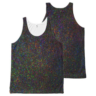 Dark rainbow glitter look art  tank top
