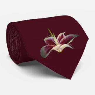 Dark Raspberry Lily Tie