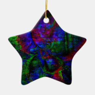 Dark Rave Graffiti Ceramic Star Decoration