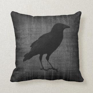 Dark Raven Gothic Pillow