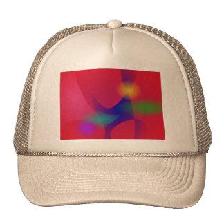 Dark Red Abstract Art Mesh Hats
