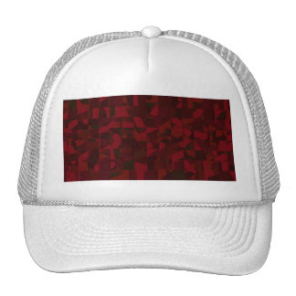 Dark Red Abstract Pattern. Hat