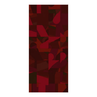 Dark Red Abstract Pattern. Personalized Rack Card