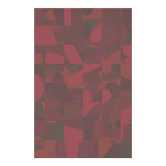Dark Red Abstract Pattern. Stationery