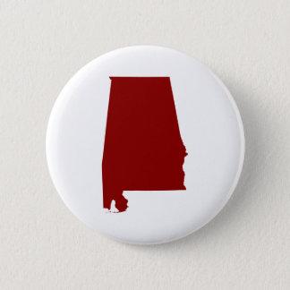 Dark Red Alabama Shape 6 Cm Round Badge