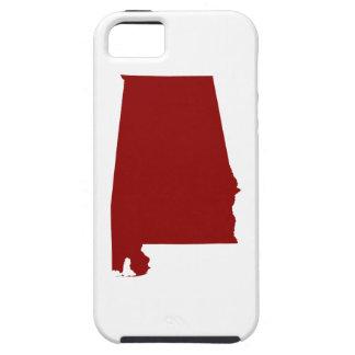Dark Red Alabama Shape iPhone 5 Covers