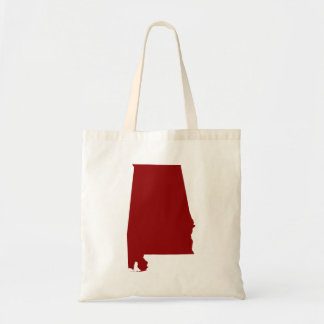 Dark Red Alabama Shape Tote Bag