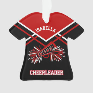 Dark Red and Black Cheerleader Ornament