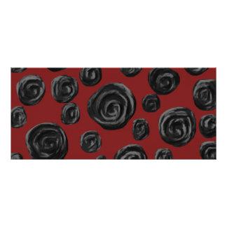 Dark red and black rose pattern custom rack cards