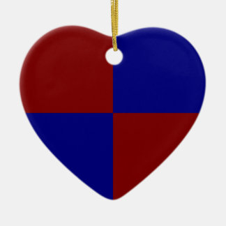 Dark Red and Blue Rectangles Christmas Ornament