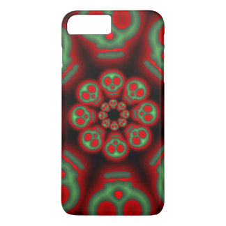 Dark Red and Green Spooky Skulls iPhone 7 Plus Case