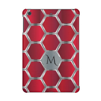 Dark red And Silver Geometric Pattern